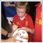 Ball signing for birthday boy / girl