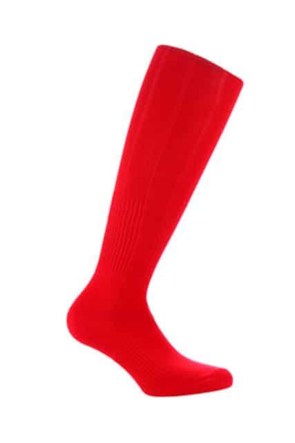 Red kids football socks