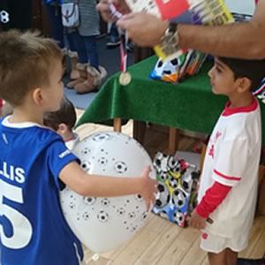 football birthday party