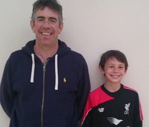 Sam, 9, scouted for Manchester City FC