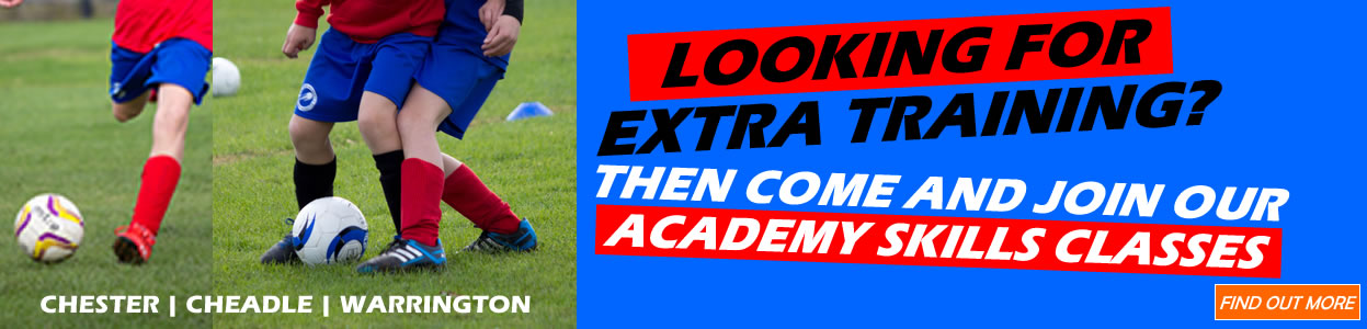 extra football training warrington cheadle chester